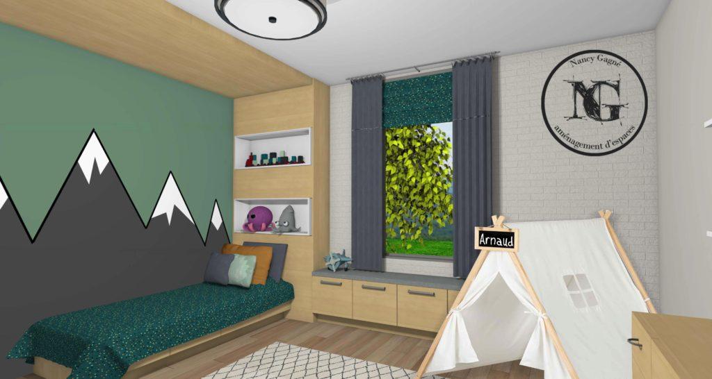 La chambre d'Arnaud